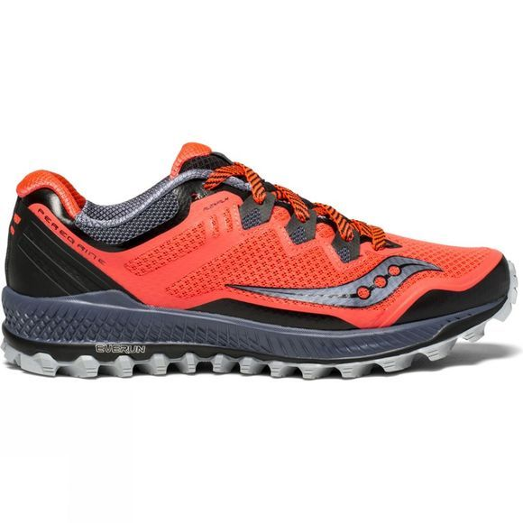 Saucony Womens Peregrine 8 Shoe Vizired/Grey/Black