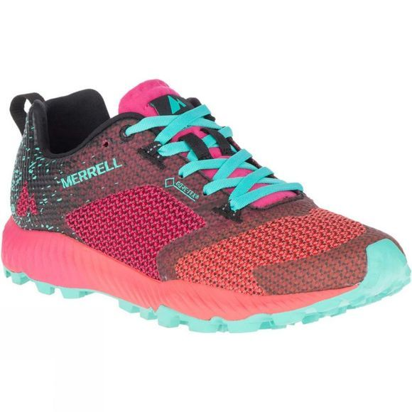 Merrell Woman All Out Crush 2 Gore-Tex Shoe Azalea/Turquoise