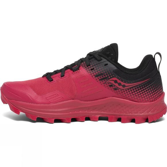 Saucony Womens Peregrine 10 Shoe Barberry/Black