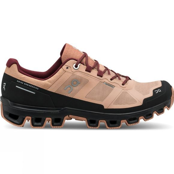 On Women's Cloudventure Waterproof Rosebrown/Mulberry