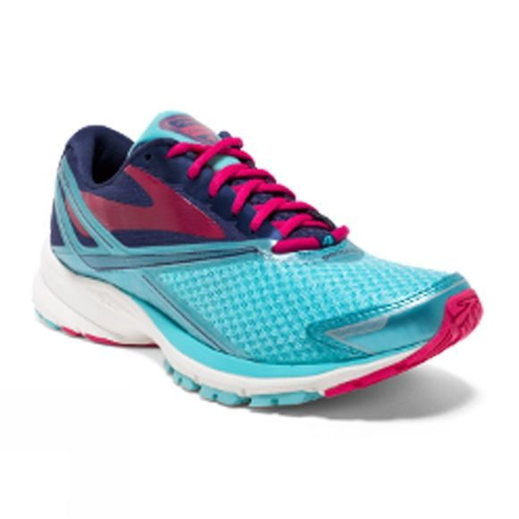 Brooks Womens Launch 4 Shoe Blue Radiance/Patriot Blue/Virtual Pink