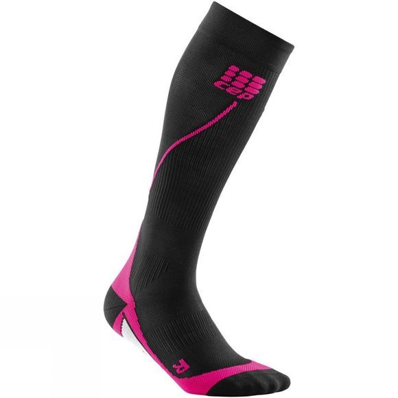CEP  Womens Compression Run Socks Black          /Mid Pink