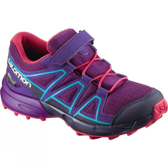 Salomon Boys Speedcross CSWP Shoe Grape Juice/Evening Blue/Bluebird