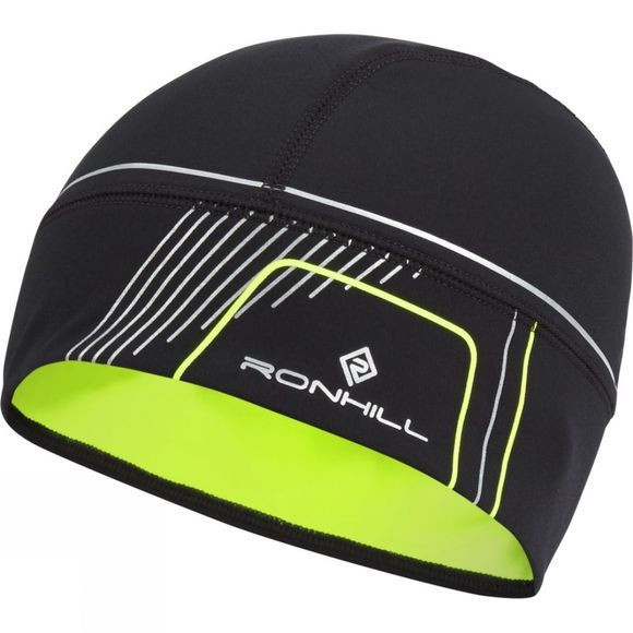Ronhill Run Beanie Black/Fluo Yellow