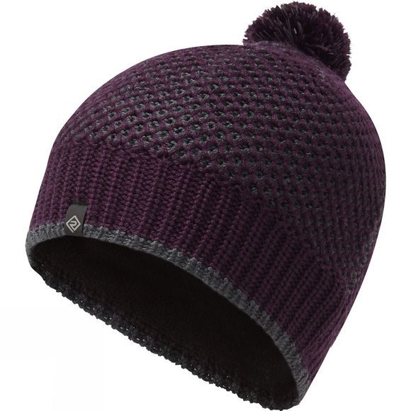 Ronhill Thermal Bobble Hat Aubergine/Charcoal