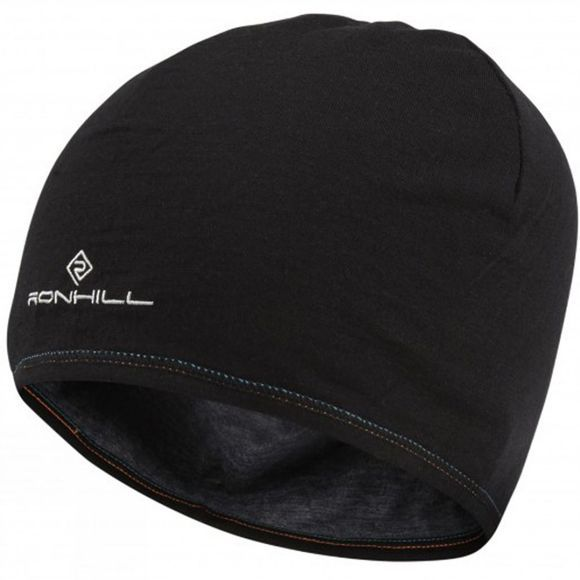 Ronhill Mens Merino Hat Grey Marl/Black