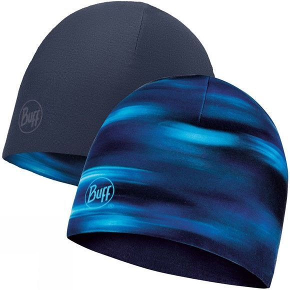Buff Mens Microfibre Reversible Hat Shading Blue