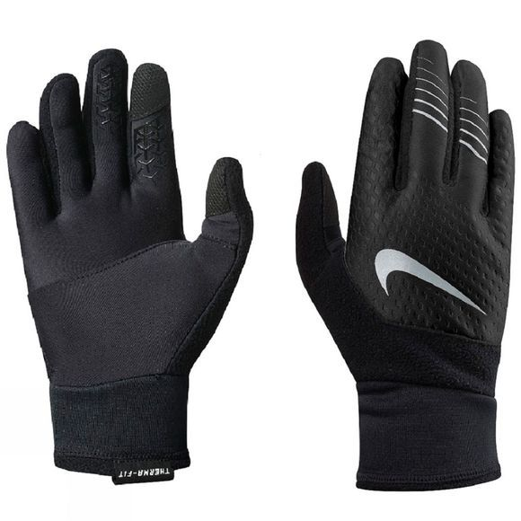 Nike Womens Therma-Fit Elite Gloves 2.0 Black/Silver
