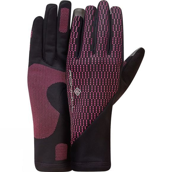 Ronhill Unisex Wind Block Gloves Black/Azalea