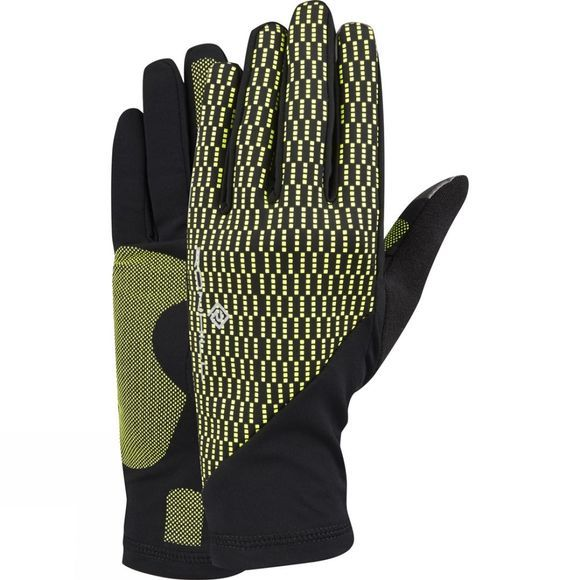 Ronhill Unisex Wind Block Gloves Black/Fluo Yellow