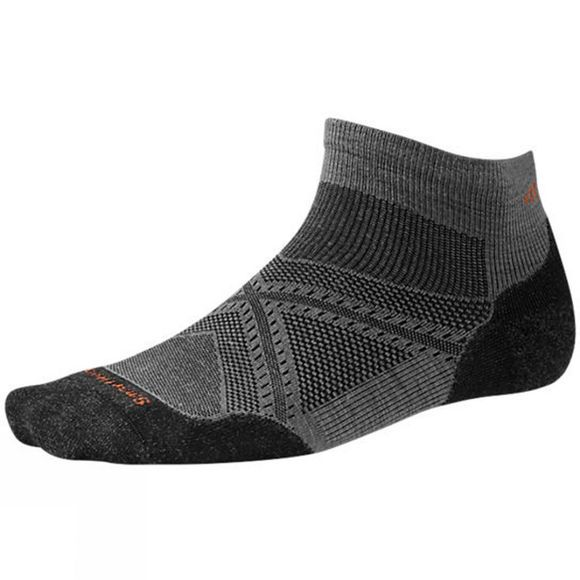 SmartWool Mens PhD Run Light Elite Low Cut Sock Graphite