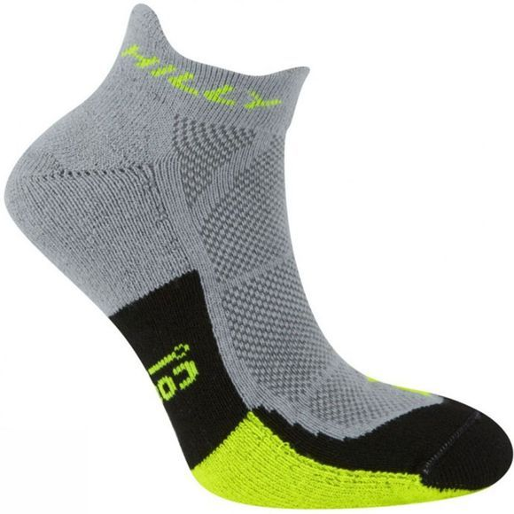 Hilly Cushion Socklet Grey/FluoYellow/Blk