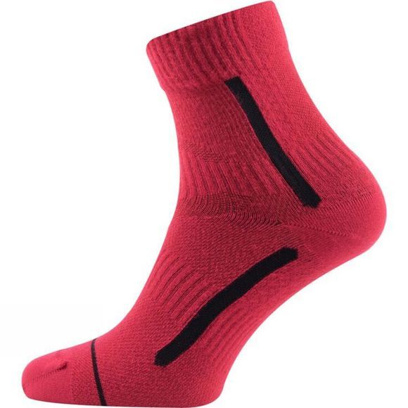SealSkinz Run Race Ankle Socks Red/Black