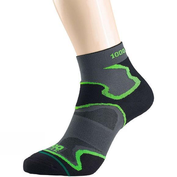 1000 Mile Womens Fusion Anklet Sock Black/Green