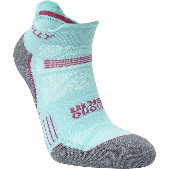 Hilly Womens Supreme Socklet Aquamarine/Grey Marl