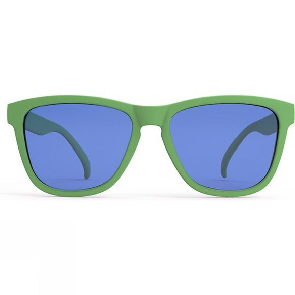 Goodr Gangrene Runner's Toe Green with Blue Lens