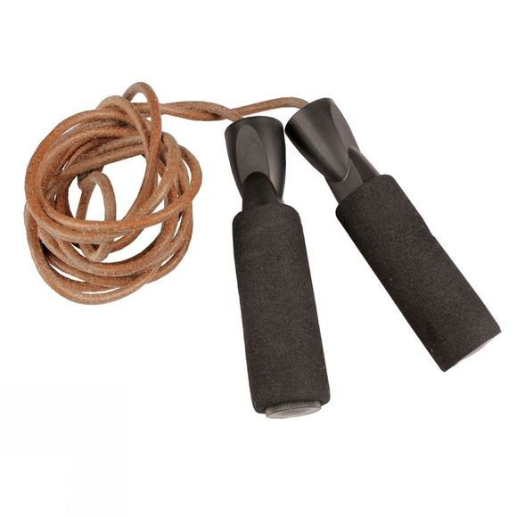 Fitness Mad Leather Weighted Jump Rope Black/Rust