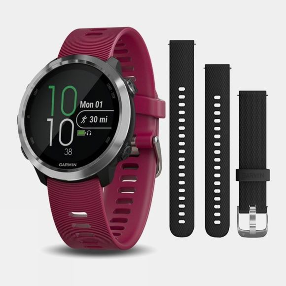 Garmin Forerunner 645 Music & Black Strap Bundle Cerise/Black