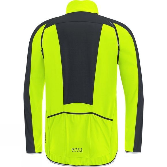 Gore Bikewear Mens C3 Windstopper Phantom Zip Off Jacket Neon Yellow