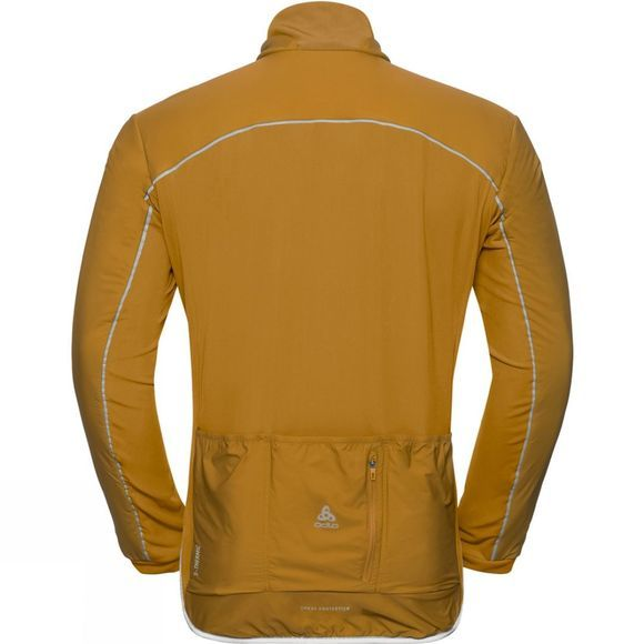 Odlo Mens Zeroweight S-Thermic Cycling Jacket Golden Brown