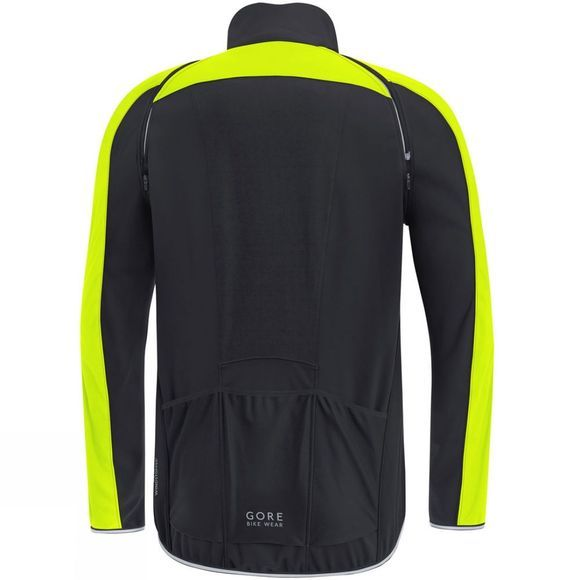 Gore Bikewear Mens Phantom Zip Off Jacket Black/Yellow