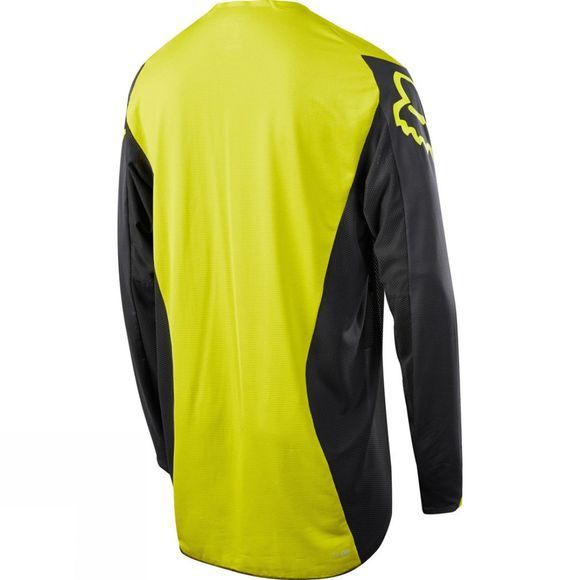Fox Clothing  Mens Flexair Moth Long Sleeve Jersey Black / Yellow