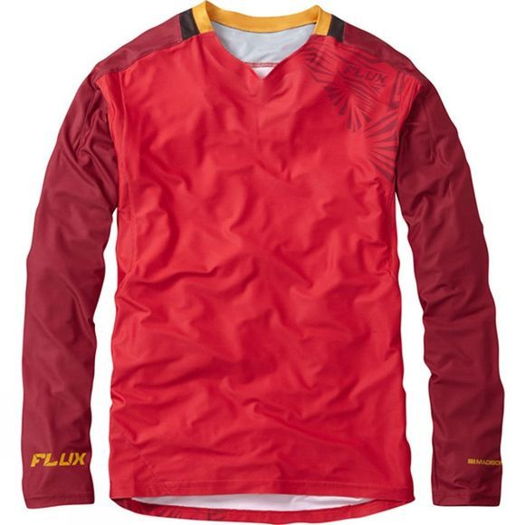 Madison Mens Flux Enduro Long Sleeve Jersey Red