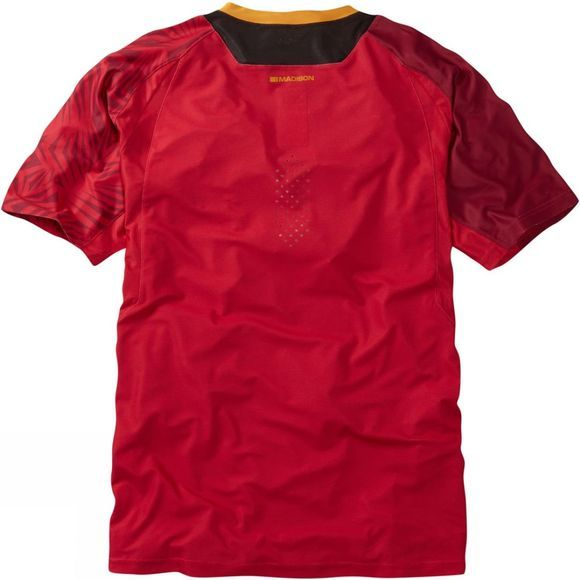 Madison Mens Flux Enduro Short Sleeve Jersey Red
