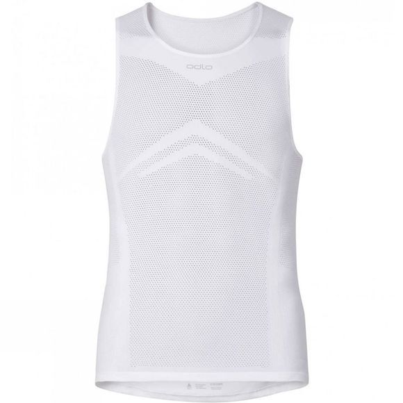 Odlo Men's Breathe Singlet Baselayer  White
