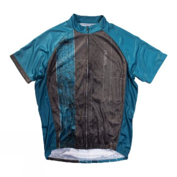 Primal Mens Brix Sport Cut Jersey Blue/Black