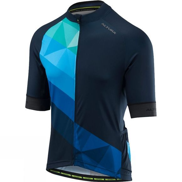 Altura Mens Peloton Short Sleeve Jersey Mosaic Blue/Black