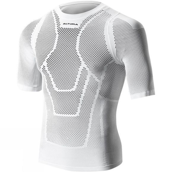 Altura Mens Dry Mesh Short Sleeve Baselayer White