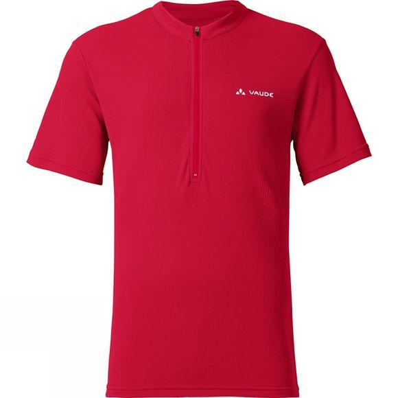 Vaude Mens Brand Tec Shirt Indian Red