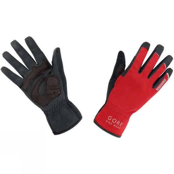 Gore Bikewear Unisex Universal Windstopper Gloves Red/Black