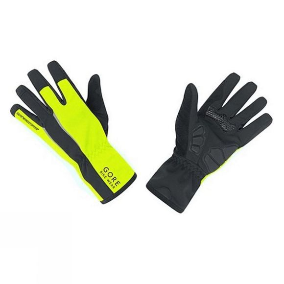 Gore Bikewear Mens Power WINDSTOPPER® Gloves Black/Neon Yellow