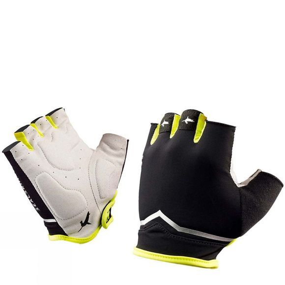 SealSkinz Ventoux Classic Fingerless Glove Black/Hi Vis Yellow
