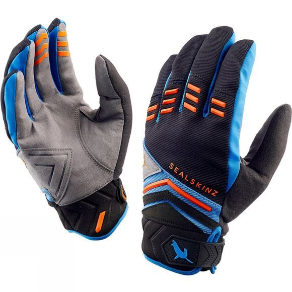 SealSkinz Dragon Eye MTB Glove Black/Blue/Orange