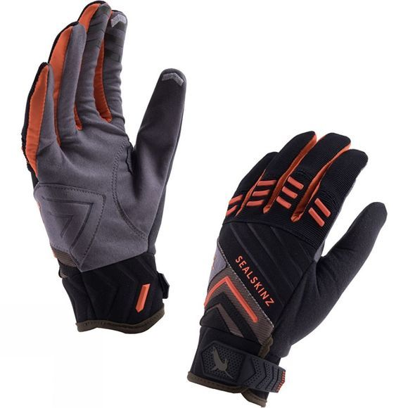 SealSkinz Dragon Eye Trail Glove Black/DK Olive/Orange