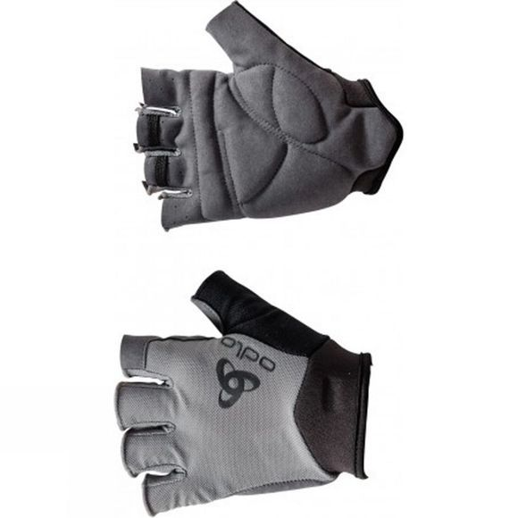 Odlo Mens Short Finger Gel Glove Black/Odlo Grey
