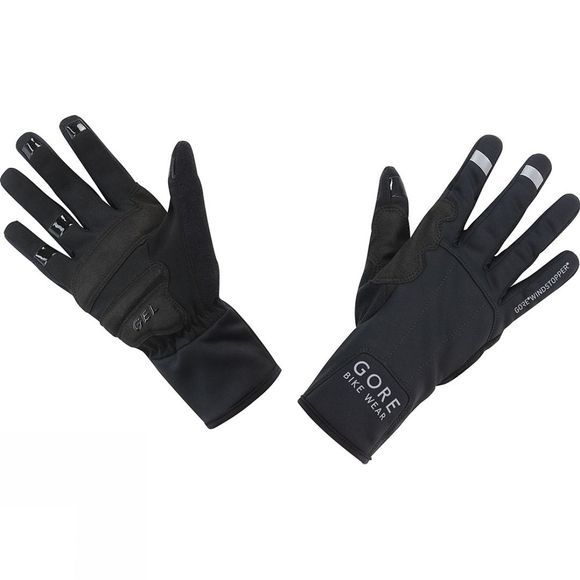 Gore Bikewear UNIVERSAL GORE® WINDSTOPPER®  Mid Gloves Black