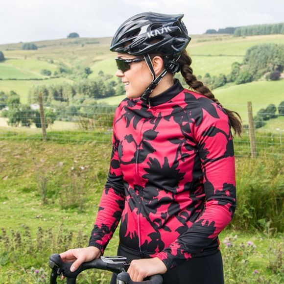 Primal Womens Cabernet Long Sleeve Jersey Red/Black