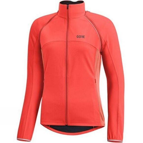 Gore Bikewear Womens C3 Phantom Zip Off Jacket Lumi Orange/Coral Glow