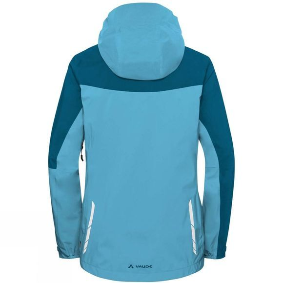 Vaude Womens Moab Rain Jacket Crystal Blue