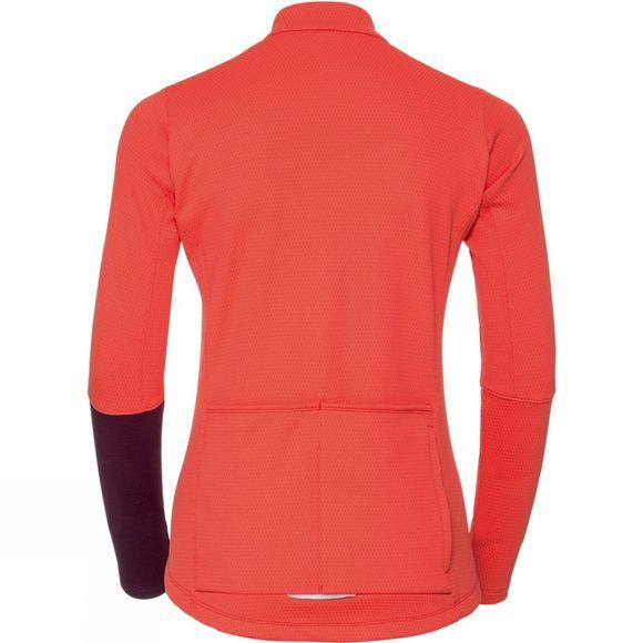 Odlo Womens Lombardia Stand Up Collar Full Zip Top Hot Coral