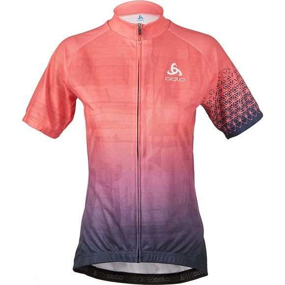 Odlo Womens Active Print Stand-Up Collar Jersey Pink