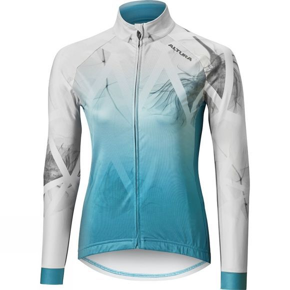 Altura Womens Icon Foliage Long Sleeve Jersey Glacier Grey
