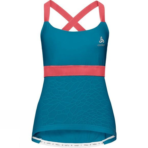 Odlo Womens Ceramicool X Light Singlet Crystal Teal