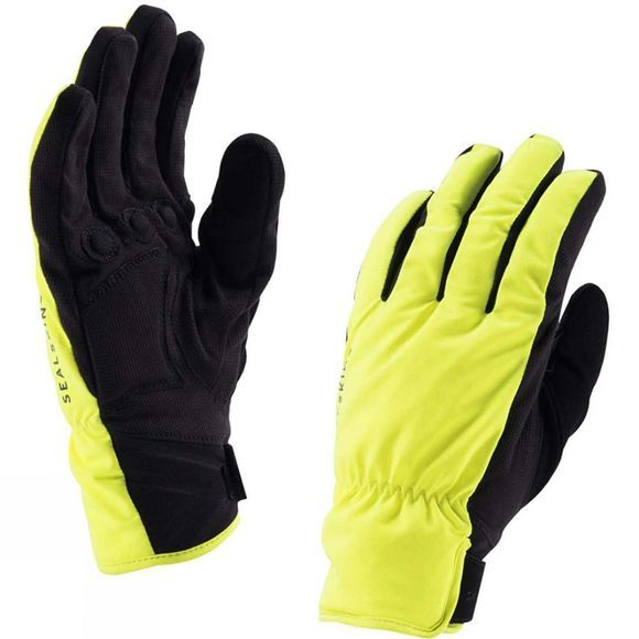 SealSkinz W Brecon Glove Black/Hi Vis Yellow