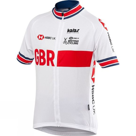 Kalas Kids British Cycling Replica Active Jersey White