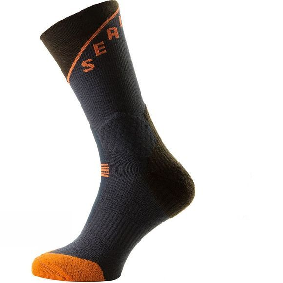 SealSkinz MTB Trail Mid Socks Anthracite/DK Olive/Methyl Orange